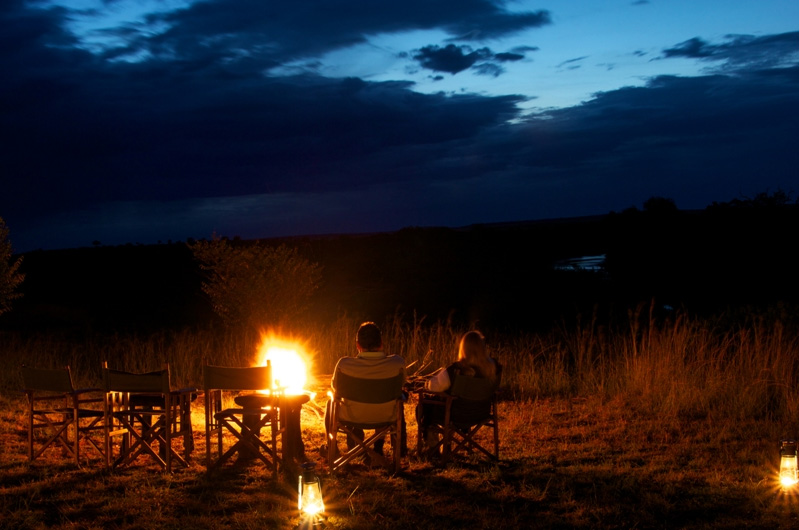Entim Mara Camp at Night